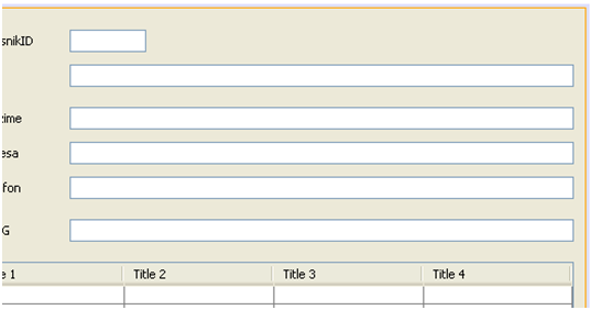Graphical User Interface. Creating netbeans forms. Example - CD Club - View the input field