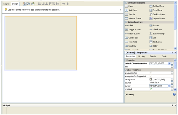 Graphical User Interface. Creating netbeans forms. Designer