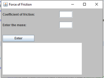 Swing User Package. GUI friction force